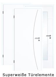 Superweiße Türelemente NEU (Tür + Zarge)