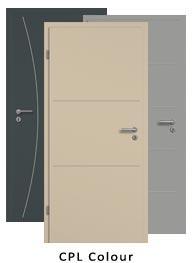 Lisenen Türen CPL Colour (Tür + Zarge)