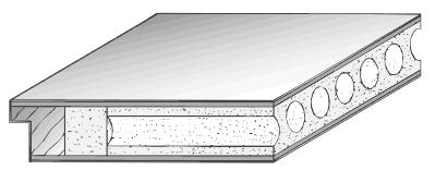 Türblatt mit Röhrenspan-Einlage