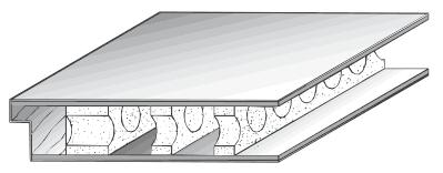 Türblatt mit Röhrenspansteg-Einlage