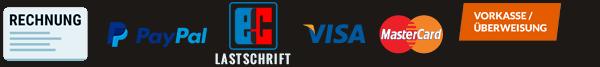 Zahlungsarten Türenfuxx.de: Kauf auf Rechnung, PayPal, Lastschrift, Kreditkarte, Vorkasse und Ratenkauf