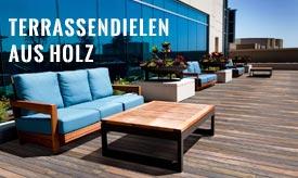 Terrassenbeläge aus Holz stellen eine preiswerte und harmonische Alternative zu anderen Terrassenbelägen dar.