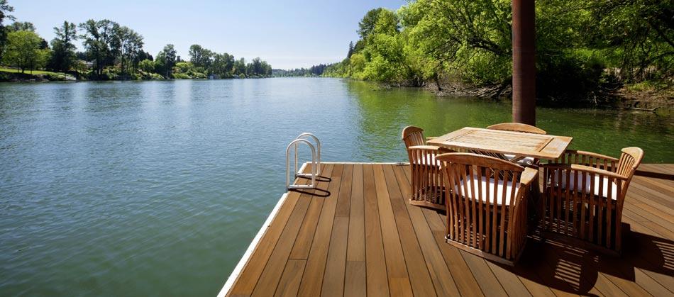 Garapa-Terrassendielen glatt, Premium Qualität